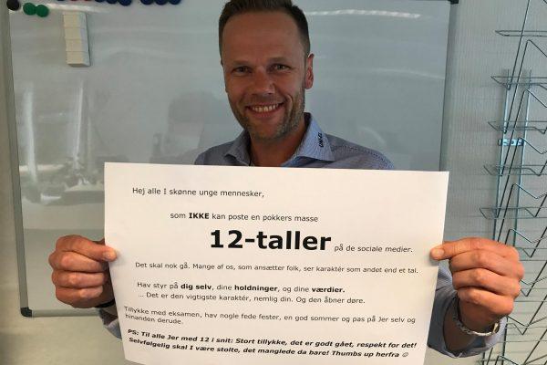 """Direktøren: """"12-taller er ikke altafgørende"""""""